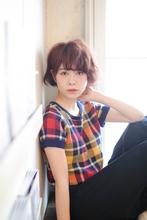 ショートボブ×ニュアンスカール|MINX 青山店 歳嶋 建国のヘアスタイル