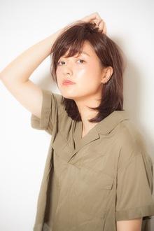 手入れ楽チンな表面からふわっと内巻きスタイル|MINX 青山店のヘアスタイル