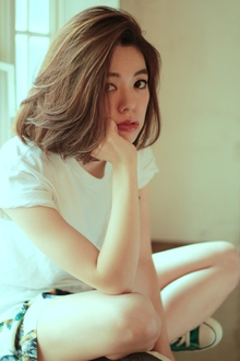 毛流れが好感度大!かきあげヘルシーボブ!|MINX 青山店のヘアスタイル