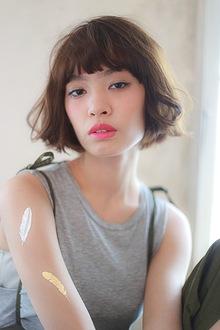 簡単ゆるふわ!ラフな抜け感ボブ☆|MINX 青山店のヘアスタイル