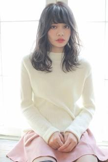 黒髪ガーリーロング|MINX 青山店のヘアスタイル