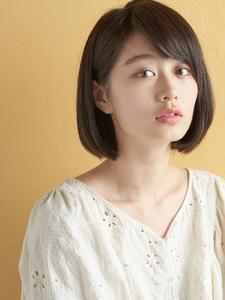 美人度アップ鉄板ミニマムボブ|MINX 青山店のヘアスタイル