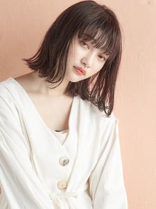 切りっぱなし×小顔×外ハネボブ|MINX 青山店のヘアスタイル
