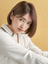 耳かけワンレンショート|MINX 青山店のヘアスタイル