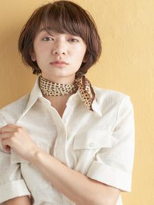 丸みショートボブ|MINX 青山店のヘアスタイル