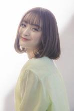 大人かわいいオトナボブ×アッシュブラウン|MINX 青山店のヘアスタイル