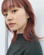 外ハネおしゃれ暖色系カラー|MINX 青山店 和田 流星のヘアスタイル