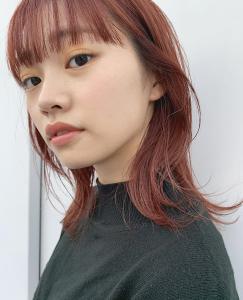 外ハネおしゃれ暖色系カラー|MINX 青山店のヘアスタイル