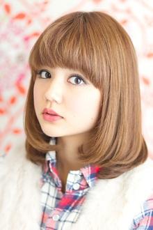 可愛いが溢れだすミディアムボブ!|MINX 青山店のヘアスタイル