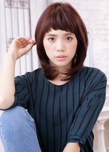 毛先の内巻きニュアンスが可愛い再現性アップのストパー|MINX 銀座店のヘアスタイル