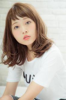 【MINX】ハイライトカラー×ワンカールの透明感女子|MINX 銀座店のヘアスタイル