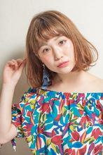 トロピカルなワンカールボブ|MINX 銀座店 鈴木 貴徳のヘアスタイル