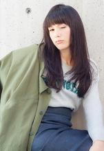 顔型を選ばない、短め前髪×ストレートの大人ヘア|MINX 銀座店 八木 花子のヘアスタイル