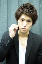 爽やかモテ男のアップバングスタイル|MINX 銀座店のメンズヘアスタイル