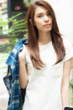 ツヤ髪ナチュラルストレート|MINX 銀座店 寺内 晶子のヘアスタイル