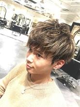 三代目風!モテハイライト|MINX 銀座店のヘアスタイル