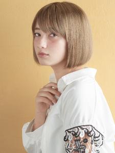 ワンレンミニマムボブ MINX 銀座店のヘアスタイル