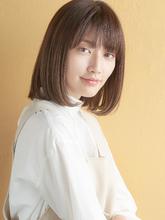 ワンレン上品ミニマムボブ|MINX 銀座店 菅野 久幸のヘアスタイル
