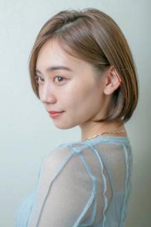 小顔に見えるナチュラルボブ【銀座×30代】|MINX 銀座店のヘアスタイル