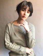 ゆるふわショートヘアパーマ×ハイライト|MINX 銀座店 佐伯 美祐のヘアスタイル