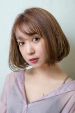 大人のショートボブ×ベージュカラー|MINX 銀座店 田中 柚衣のヘアスタイル