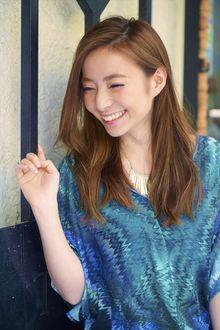 【MINX】2014VERY 井川遥さん風 色っぽストレート|MINX 銀座二丁目店のヘアスタイル