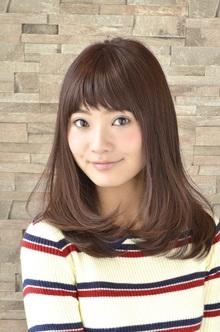 宮崎あおい風ザクザク前髪×ナチュラルロング|MINX 銀座二丁目店のヘアスタイル