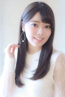 大人可愛いツヤ髪ワンカールストレート☆|MINX 銀座二丁目店のヘアスタイル