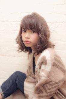 小顔に見せる前髪☆大人フレンチロブ MINX 銀座二丁目店のヘアスタイル