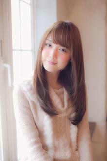 小顔に見せる前髪☆白石麻衣風ツヤストレート MINX 銀座二丁目店のヘアスタイル