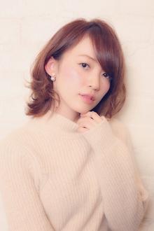 小顔に見せる前髪☆大人ひし形レイヤーヘア MINX 銀座二丁目店のヘアスタイル