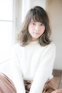 『MINX徳永利彦』小顔に見せる前髪☆柔らかい質感フェザーミディ