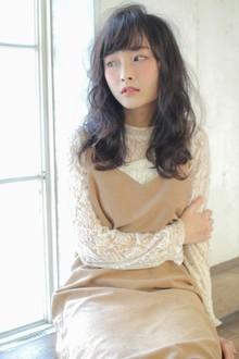 下ろし流しの前髪が可愛い☆今旬!レイヤーミディ|MINX 銀座二丁目店のヘアスタイル