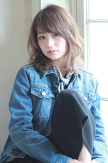 【紗栄子風】大人かわいい外国人風ラフミディ|MINX 銀座二丁目店のヘアスタイル