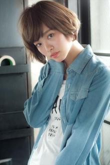 小顔に魅せる前髪ナチュラルショートボブ|MINX 銀座二丁目店のヘアスタイル