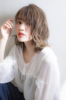 小顔にみせる前髪☆大人柔らかい質感のミディ|MINX 銀座二丁目店のヘアスタイル