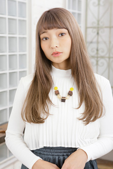 毛先シャギーで軽やかな動きを出した外国人風スリークカラー|MINX 銀座二丁目店のヘアスタイル