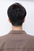 アップバングで爽やかに今風クラシカルなメンズショートヘア
