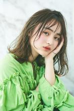 毛先パーマ×ゆるふわ小顔ボブディ|MINX 銀座二丁目店のヘアスタイル