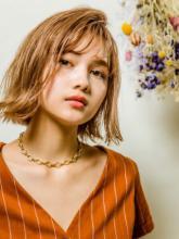 フリンジ外ハネボブ|MINX 銀座二丁目店 桜井 智美のヘアスタイル