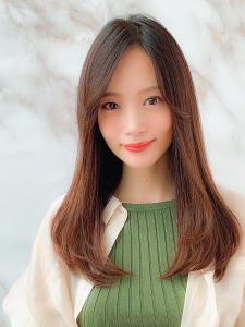 「大人かわいい」ツヤ髪ストレート ロングヘア|MINX 銀座二丁目店のヘアスタイル