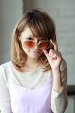 メガネ×ナチュミディ 「梨花風ウェービーカール」|MINX 銀座二丁目店 新津 百合恵のヘアスタイル