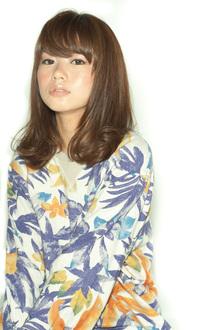 【MINX】うるつやセミロング 矢野未希子風|MINX 銀座五丁目店のヘアスタイル