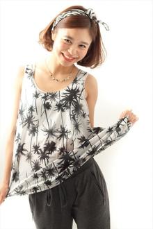【MINX】スカーフ×ボブ 小泉里子さん風夏のヘアアレンジ MINX 銀座五丁目店のヘアスタイル