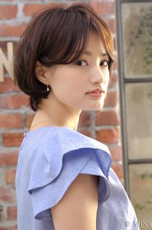 美人シルエットのスッキリショートボブ MINX 銀座五丁目店のヘアスタイル