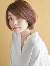 大人かわいいショートボブ|MINX 銀座五丁目店 飯野 誠のヘアスタイル