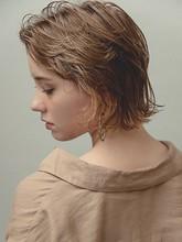 くせ毛風 ウェット外ハネボブ MINX 銀座五丁目店 河野 沙耶佳のヘアスタイル
