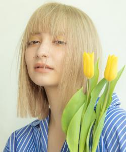 ぱっつんシースルーロブ MINX 銀座五丁目店のヘアスタイル