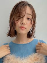 エンジェルパーマ切りっぱなしボブ MINX 銀座五丁目店 和田 かな子のヘアスタイル