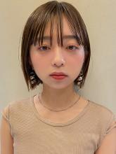 シースルーバングのミニボブ MINX 銀座五丁目店 和田 かな子のヘアスタイル